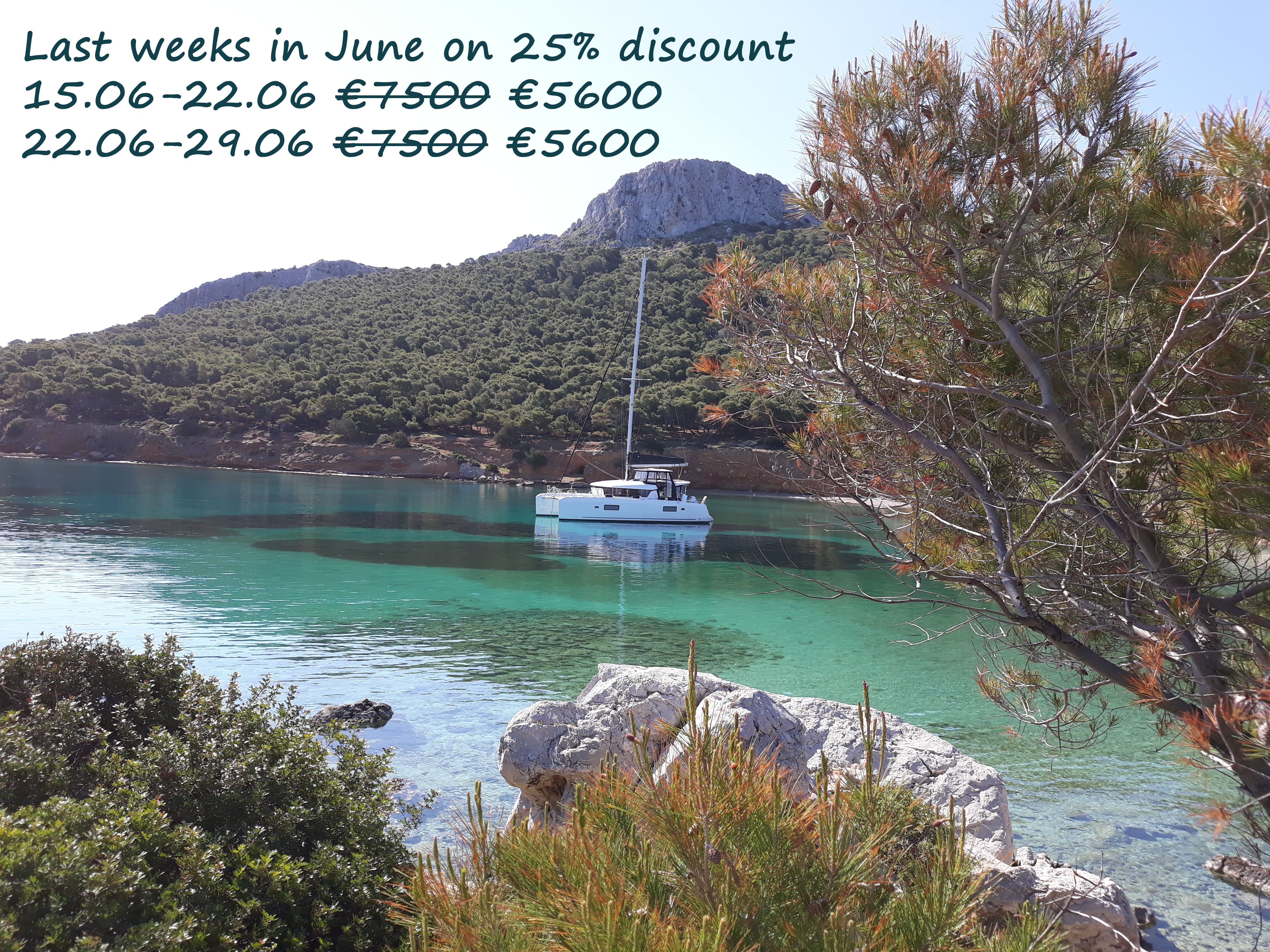 25% discount on last available weeks in June
