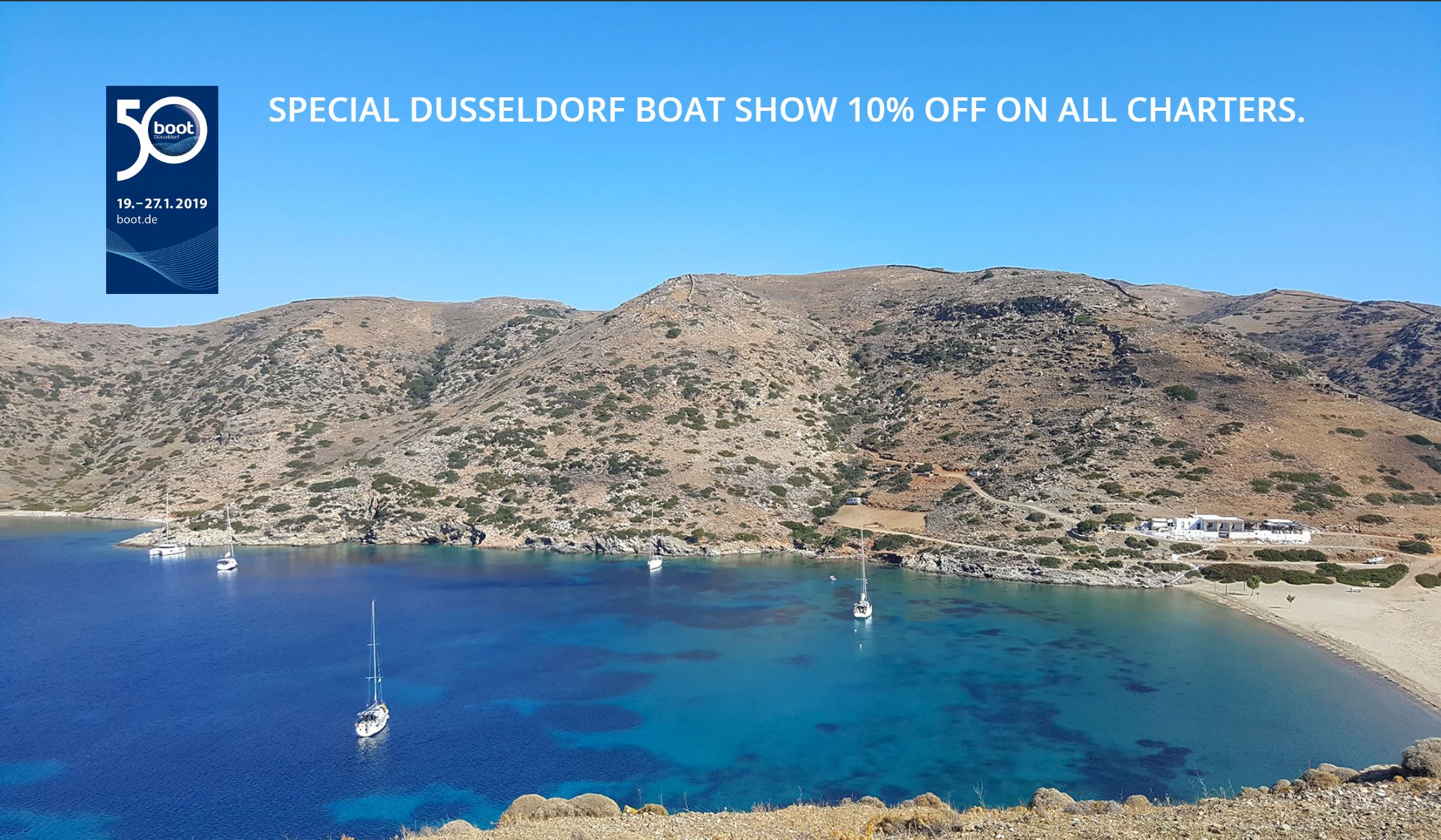 Special Dusseldorf boat show 10% off on all charters
