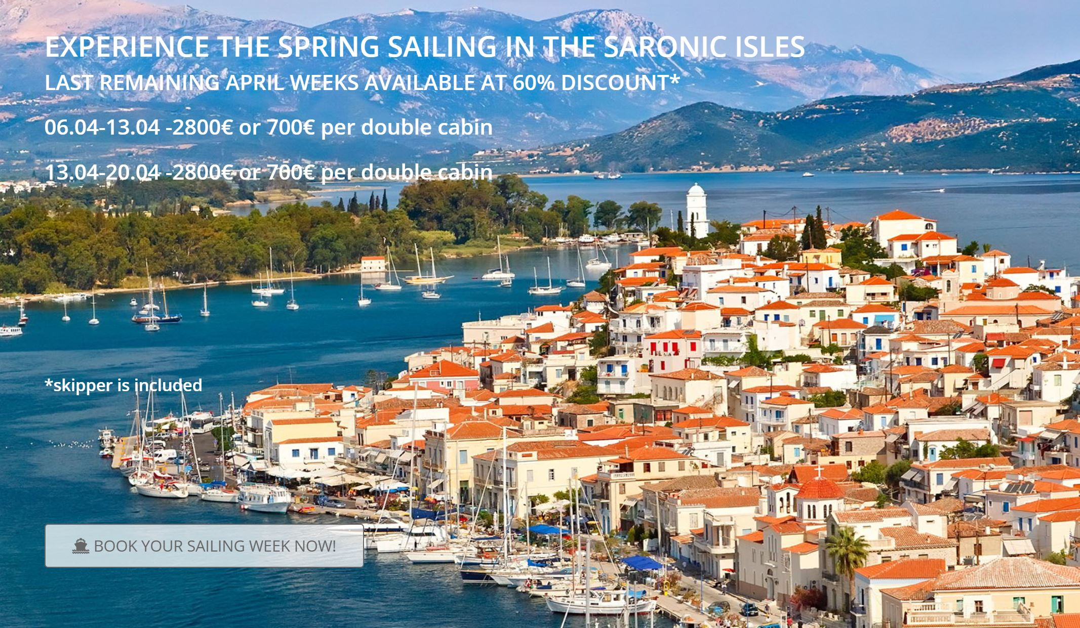 Experience the spring sailing in the Saronic Isles